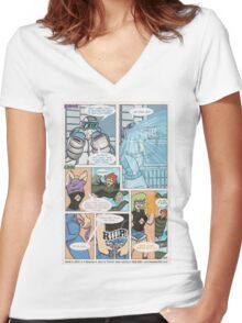 New Hawk & Croc Page 57 Women's Fitted V-Neck T-Shirt