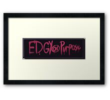 Gravity Falls -Edgy on Purpose- Banner Framed Print