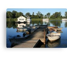 Erie Houseboats Canvas Print