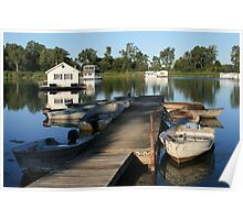 Erie Houseboats Poster