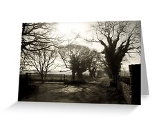 Irish Country Road Greeting Card