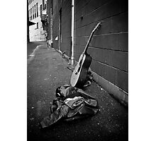 Lonely Guitar Photographic Print