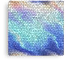 Aqua Blue Purple Pastel Mosaic Tile Abstract Canvas Print