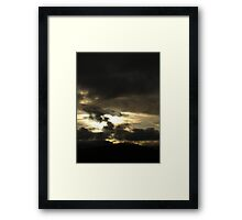 Cloud collision during twilight Framed Print