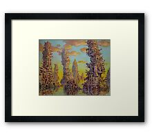 Junk Islands Framed Print