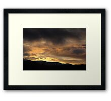 Powerful vulcano flame sunset Framed Print