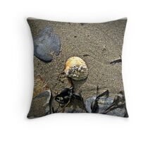 The Sea Shore. Throw Pillow