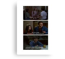 Freaks and Geeks Quote Shirt Canvas Print