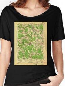 Maine USGS Historical Map Gorham 806723 1944 25000 Women's Relaxed Fit T-Shirt