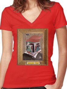 Broba Fett Women's Fitted V-Neck T-Shirt