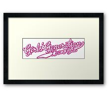 Girls Generation - Love and Girls Framed Print