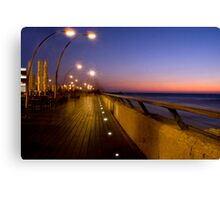 Tel Aviv Port at night Canvas Print