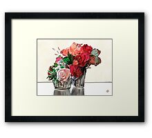 Flowers for Valentines Framed Print