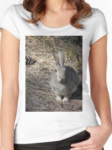 Bunny Rabbit in the Forest Women's Fitted Scoop T-Shirt
