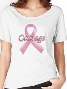 Breast Cancer Awareness - Courage Women's Relaxed Fit T-Shirt