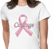 Breast Cancer Awareness - Courage Womens Fitted T-Shirt