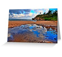 Puddles - Warriewood Beach - The HDR Series Greeting Card