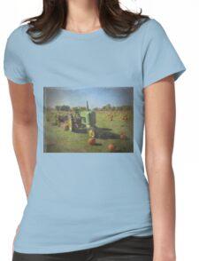 John Deere Tractor Harvest Time Photograph Textured T-Shirt