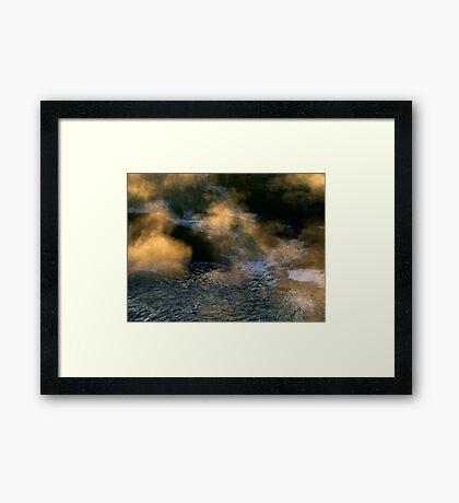 Beneath The Falls Framed Print