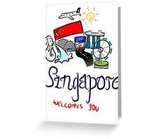 Beautiful Singapore Greeting Card