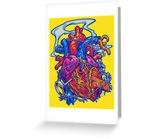 BUSTED HEART Greeting Card