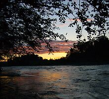 SUNSET AT THE CARBON RIVER by MsLiz