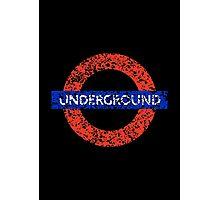 Grunge Underground Logo Photographic Print