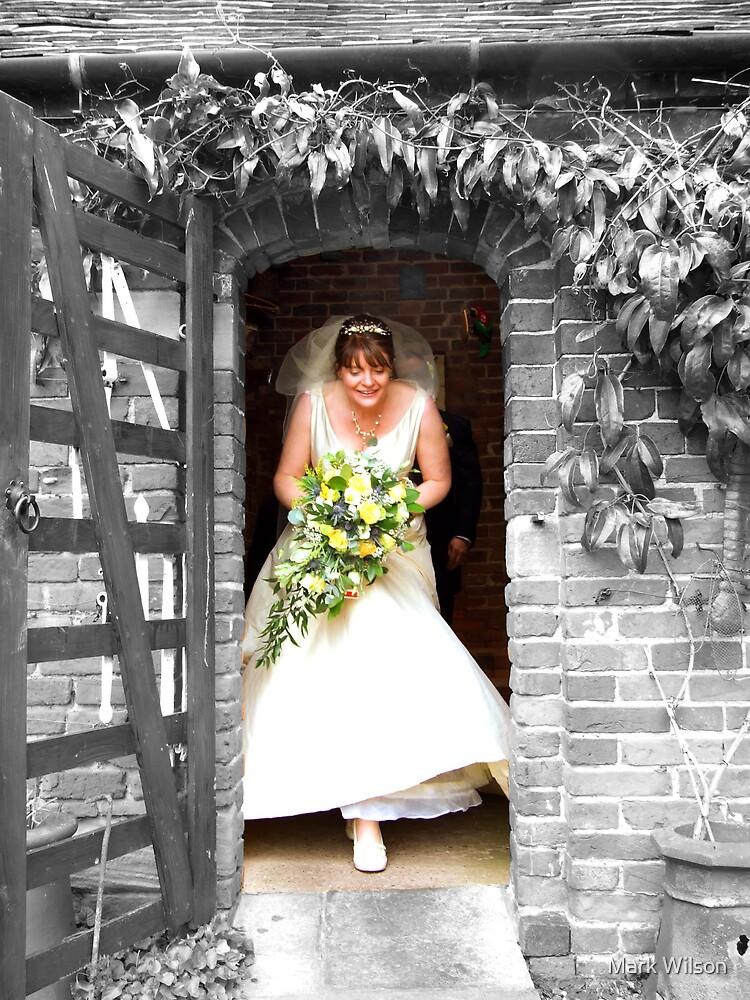 Bride Brings Colour by Mark Wilson