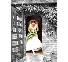 Bride Brings Colour Photographic Print
