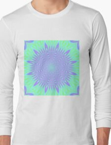 Bright Green and Purple abstract Long Sleeve T-Shirt