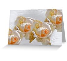 Roses on white Greeting Card