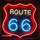 Route 66 Sign by Sally P  Moore