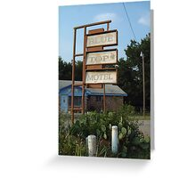 The Blue Top Motel  Greeting Card
