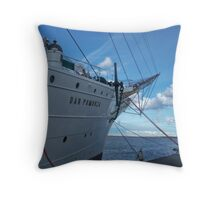 "Frigate ""Dar Pomorza"" in the Gdynia sea harbour Throw Pillow"