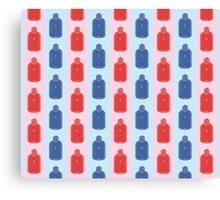 Hot Stuff - water bottle pattern Canvas Print