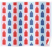 Hot Stuff - water bottle pattern Poster