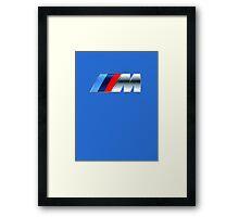 bmw m logo large Framed Print