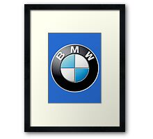 bmw logo large Framed Print