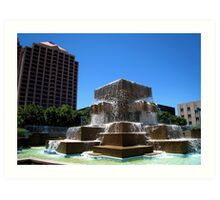 Downtown Fountain Art Print