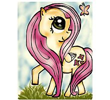 Fluttershy and Butterfly Photographic Print
