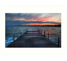 Salou sunset, Spain Art Print