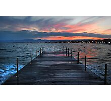 Salou sunset, Spain Photographic Print