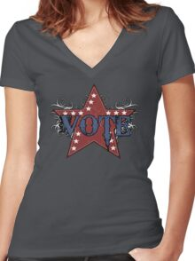 Vote  Women's Fitted V-Neck T-Shirt