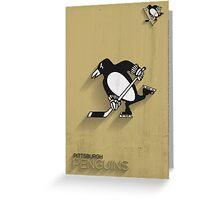 Pittsburgh Penguins Minimalistic Print Greeting Card