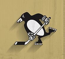 Pittsburgh Penguins Minimalistic Print by SomebodyApparel