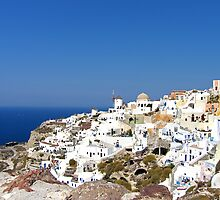 Oia Village III by Tom Gomez