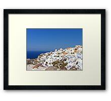 Oia Village III Framed Print