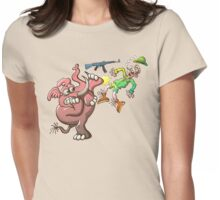 Hunter's Teeth instead of Elephant's Tusks Womens Fitted T-Shirt