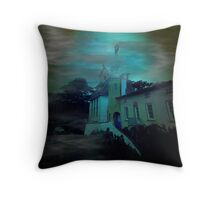 Haunted Village Throw Pillow