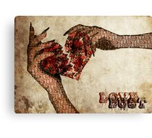 Love and Lust Canvas Print